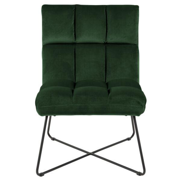 ACT NORDIC Alba loungestol - grøn stof og sort metal