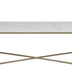 ACT NORDIC Alisma Sofabord i marmor - rektangulær, inkl plastik fodsko, (46x120x60)