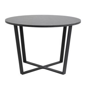 ACT NORDIC Amble rund spisebord - sort melamin og metal (Ø110)