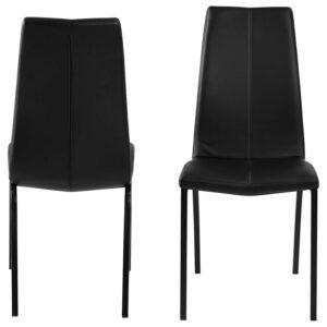 ACT NORDIC Asama spisebordsstol - sort PU og sort metal