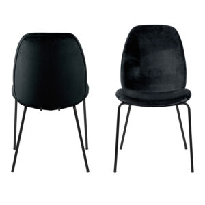 ACT NORDIC Carmen spisebordsstol - sort polyester og metal