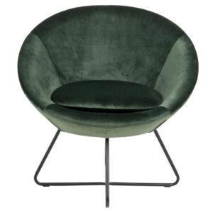 ACT NORDIC Center loungestol - grøn polyester og sort metal