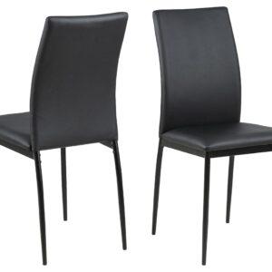 ACT NORDIC Demina spisebordsstol - sort kunstlæder/metal