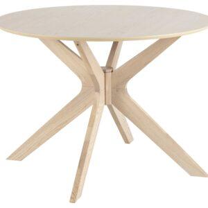 ACT NORDIC Duncan spisebord - natur egetræsfinér/egetræ, rund (Ø105)