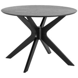 ACT NORDIC Duncan spisebord - sort egetræsfiner og birk (Ø105)