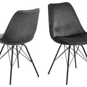 ACT NORDIC Eris spisebordsstol - mørkegrå/sort stof/metal