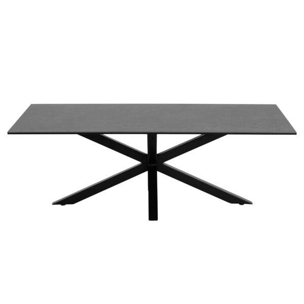 ACT NORDIC Heaven rektangulær sofabord - Fairbanks sort glas/keramik og sort metal (130x70)