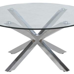 ACT NORDIC Heaven sofabord - Klar glas, rund, inkl plastik fodsko, (40x82x82)