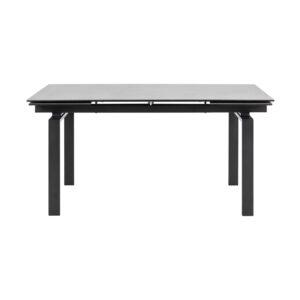 ACT NORDIC Huddersfield spisebord m. 2 tillægsplader - sort glas og metal (160/240x85)