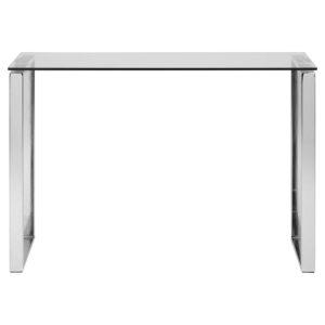ACT NORDIC Katrine konsolbord - klar glas og krom metal (110x40)