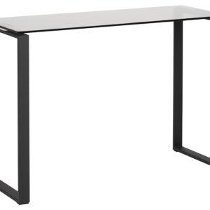 ACT NORDIC Katrine konsolbord - røget/sort glas/metal, rektangulær (110x40)