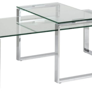 ACT NORDIC Katrine sofabord - Klar glas og metal