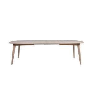ACT NORDIC Marte spisebord, m. udtræk - hvidpigmenteret egetræsfiner og egetræ (180x102)