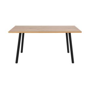 ACT NORDIC Rektangulær Cenny spisebord - natur vildegmelamin og sort metal (160x90)