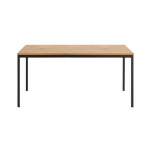 ACT NORDIC Rektangulær Seaford spisebord - natur melamin vildeg og sort metal (160x80)