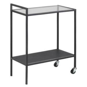 ACT NORDIC Seaford rullebord - stål med glasplade, m. hjul