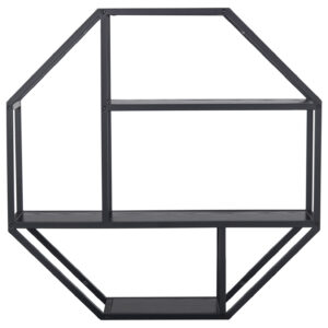 ACT NORDIC Seaford væghylde - sort melamin ask og sort metal