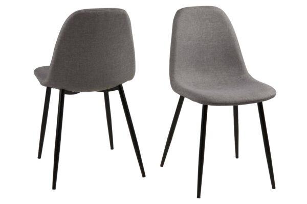 ACT NORDIC Wilma spisebordsstol - lysegrå/sort stof/metal