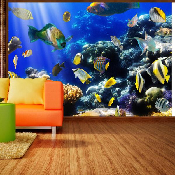 ARTGEIST Fototapet med motiv af tropiske fisk i koralrev i havet (flere størrelser) 400x280
