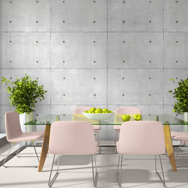 ARTGEIST - Stilet fototapet med beton-elementer - Flere størrelser 400x280