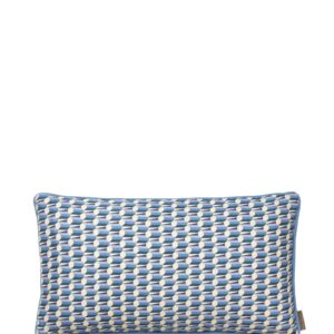 Aflang Pude Benedicte Graphic 25x45cm - Blueberry fra Cozy Living