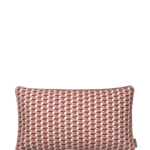 Aflang Pude Benedicte Graphic 25x45cm - Rouge fra Cozy Living