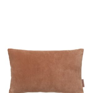 Aflang Velour Pude Soft Small 30x50cm - Sandstone fra Cozy Living