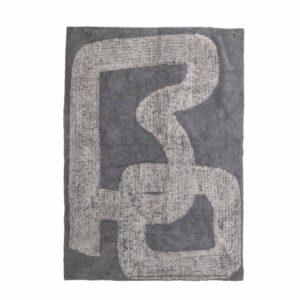 BLOOMINGVILLE Addo gulvtæppe, rektangulært - gråt bomuld (200x145)