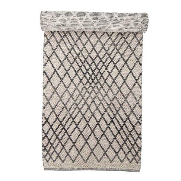 BLOOMINGVILLE Kaya gulvtæppe - grå uld (250x80)