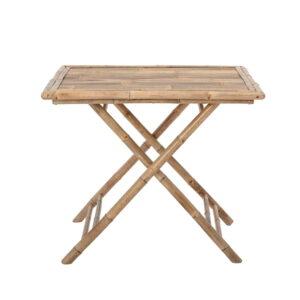 BLOOMINGVILLE Sole havebord, foldbar - natur bambus (90x90)