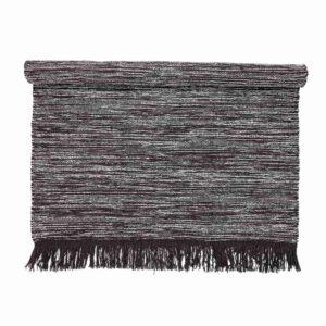 BLOOMINGVILLE gulvtæppe - grå uld/bomuld, rektangulær (200x140)