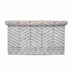BLOOMINGVILLE gulvtæppe - hvid bomuld, rektangulær (300x200)