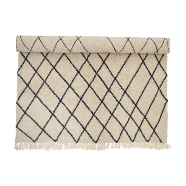BLOOMINGVILLE gulvtæppe - natur uld/bomuld, rektangulær (300x200)