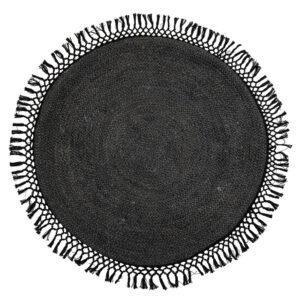 BLOOMINGVILLE gulvtæppe - sort jute