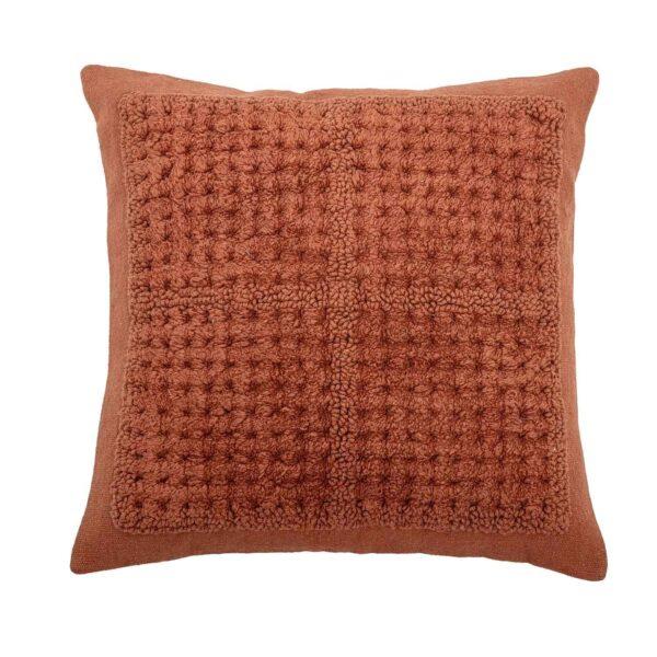 BLOOMINGVILLE pude - rød bomuld, kvadratisk (45x45)