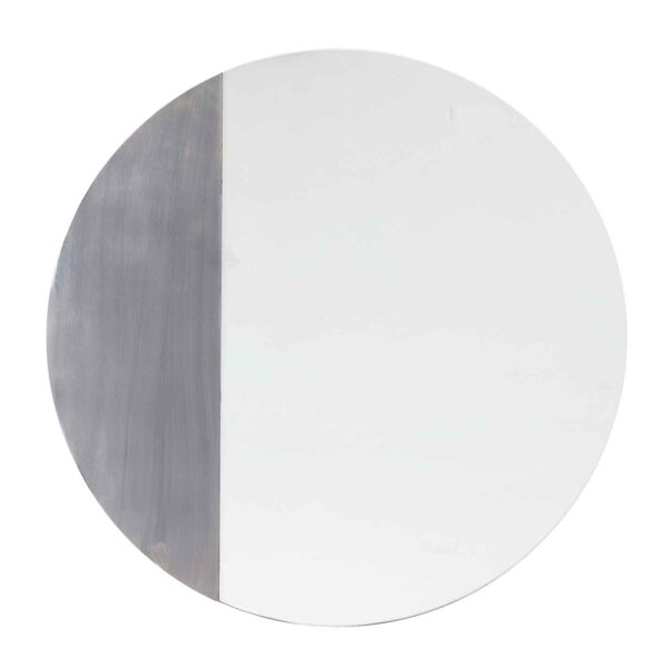 BLOOMINGVILLE vægspejl - klar og sort spejlglas, rund (Ø60)
