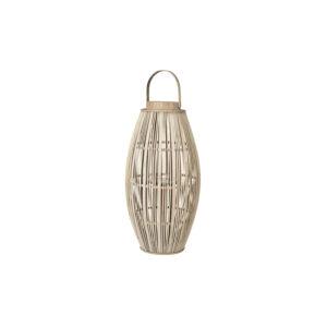 BROSTE COPENHAGEN Aleta lanterne, rund - glas og natur bambus (Ø31,5)