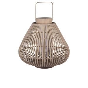 BROSTE COPENHAGEN Sahara L lanterne, rund - glas og natur bambus (Ø44)