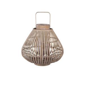 BROSTE COPENHAGEN Sahara M lanterne, rund - glas og natur bambus (Ø39)