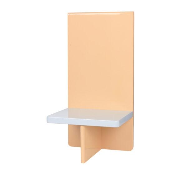 BROSTE COPENHAGEN Tenna væghylde - dusty peach og lyseblå MDF (26x20)