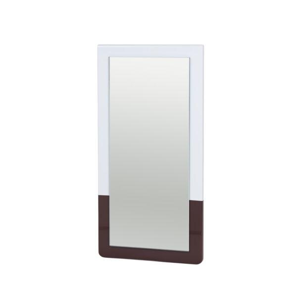 BROSTE COPENHAGEN Tenna vægspejl - spejlglas, lyseblå og puce aubergine MDF (52x26)
