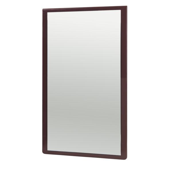 BROSTE COPENHAGEN Tenna vægspejl - spejlglas og puce aubergine MDF (78x46)