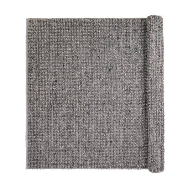 BROSTE COPENHAGEN Thomas gulvtæppe - grå uld/viscose, rektangulær (200x140)