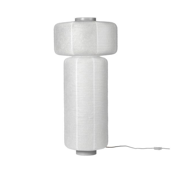 BROSTE COPENHAGEN William gulvlampe - hvid rispapir