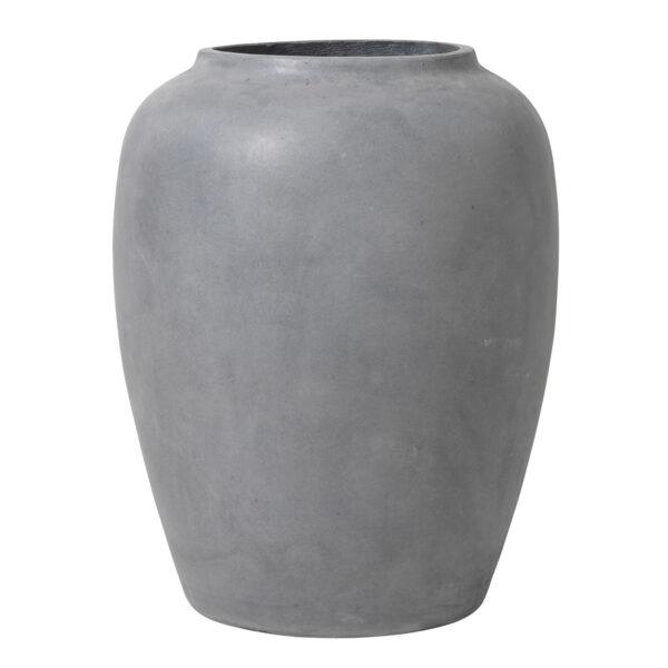 BROSTE COPENHAGEN rund Ray gulvvase - grå fiberler (50x50)