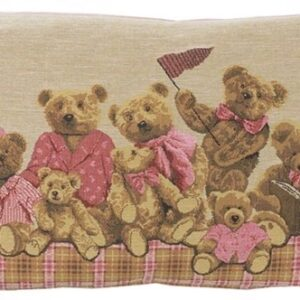 Baby bears pude, pink, 33x45 cm fra FS Home Collection