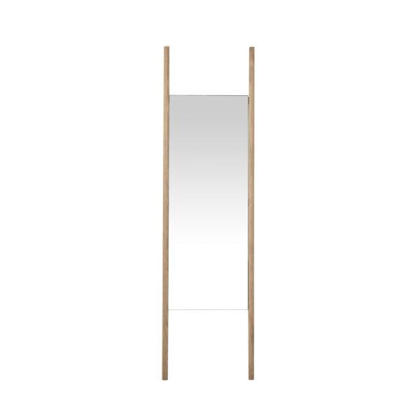 CANETT Auckland rektangulær gulvspejl - spejlglas og egetræ (170x47)