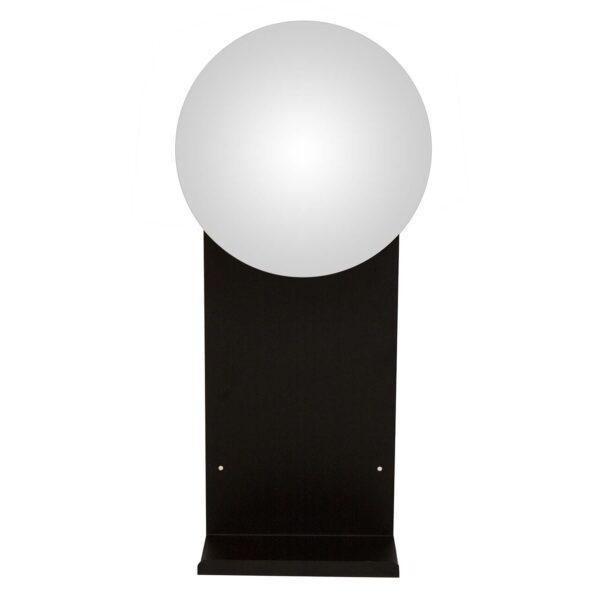CANETT Vega vægspejl, m. hylde og kroge - spejlglas og sort metal