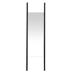 CANETT rektangulær Auckland gulvspejl - spejlglas og sort træ (170x47)