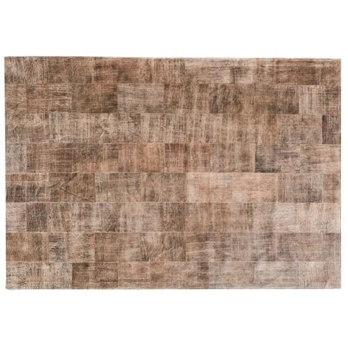 FUHRHOME Ankara tæppe, håndlavet, ægte læder (240x170 cm)
